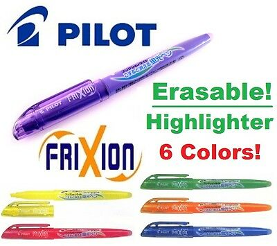 Pilot Frixion ERASABLE HIGHLIGHTERS Ink Pens CHOOSE COLORS Green Purple Yellow