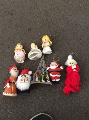 vintage  1960/70's christmas Assorted decorations