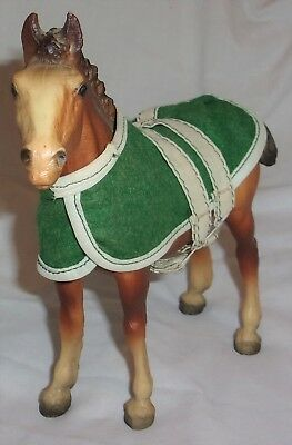 Estate Vintage Breyer Horse 7 1/2 inches tall 7 5/8 in. front to back w/ blanket