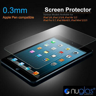 Nuglas Tempered Glass Screen Protector iPad 2018 2/3/4/5/6 Pro 9.7 Air 1/2 Mini
