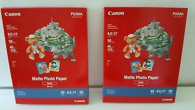 "❤Lot of 2 Canon Matte Photo Printer Paper 8.5 X 11"" Total of 90 Sheets New ❤"