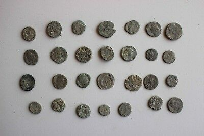 Lot num 3. of 30 Lower Quality Uncleaned Ancient Roman Coins; 55 Grams.
