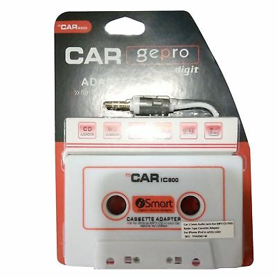 Car Audio Tape Cassette to 3.5mm AUX Jack Connector For iPhone Samsung iPod iPad