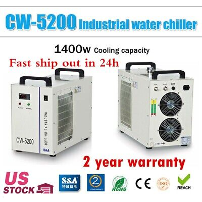 Genuine S&A CW-5200DG Industrial Water Chiller for 130W-150W CO2 Laser Tube-USA