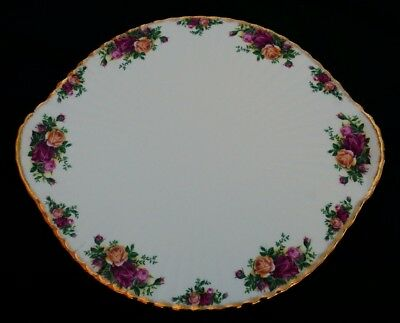 Royal Albert Old Country Roses Very Large Cake Platter With Feet