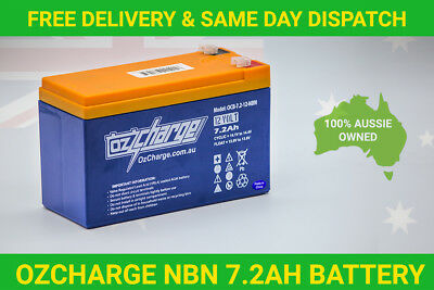 OzCharge NBN Replacement Battery VRLA SLA 12V 7AH 7.2AH Power Supply Backup