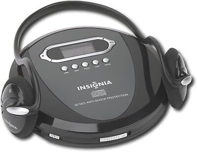 NEW Insignia NS-P4112 Portable CD Player with Skip Protection for CD CD-R CD-RW