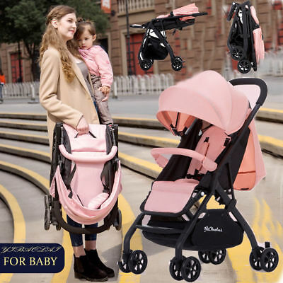 Foldable Baby stroller Infant Pushchair Adjustable Pram Toddler Travel Buggy UK