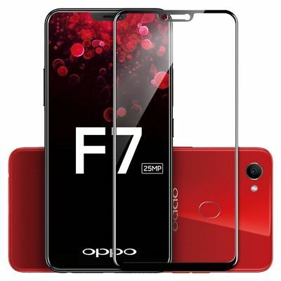 5D 9H Premium Tempered Glass for OPPO F7 Full Coverage Screen Protector