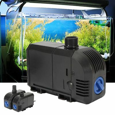 Pompe à Eau Submersible Aquarium Poisson Bassin Étang Fontaine Filtrage Pump