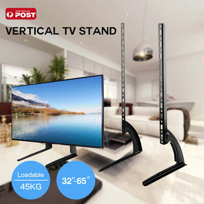 "Universal Table Top TV Stand Leg Mount LED LCD Flat TV Screen 32-65"" Bracket AU"