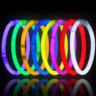 100 Pcs Glow sticks bracelets necklaces fluorescent neon party favors xmas gift&