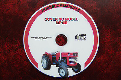 Massey Ferguson Mf165 Workshop Service Repair Manual Including Parts Manual
