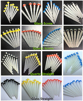 10Pc Dental Glass Fiber Post 1.2mm Yellow 1.4 Red 1.6mm Blue 1.8mm Quartz Screw