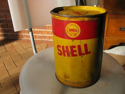 Shell 5 Lb grease tin full of product 1960;s collectable item