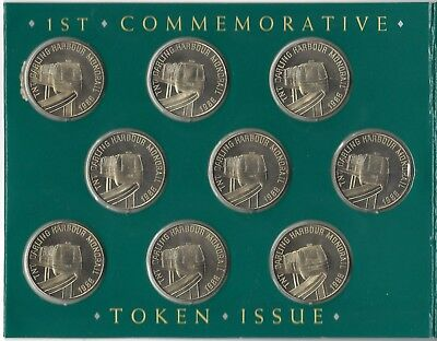 1988 1ST Commemorative TNT HarbourLInk Set of 9 Token Issue Sydney Monorail