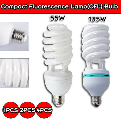 55W/135W Continuous Lighting Bulbs Soft Energy Saving Lamp Softbox Bulb CFL