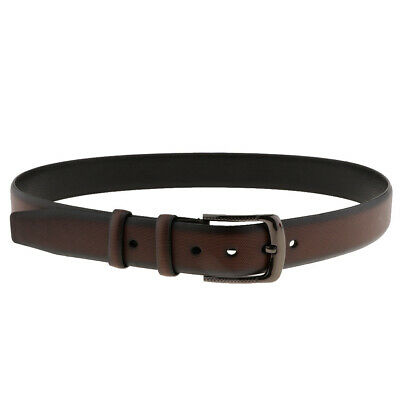 Mens PU Leather Belt Pin Buckle Trouser Jeans Waistbelt Waist Band 2 Colors