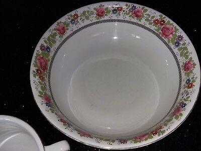 Antique Large Washbowl,Chamberpot,Small Jug/vase,Small Bowl Pearlescent-4 Pieces