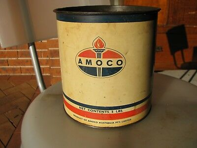 Amoco 5 LB Grease tin good collectable condition man cave item