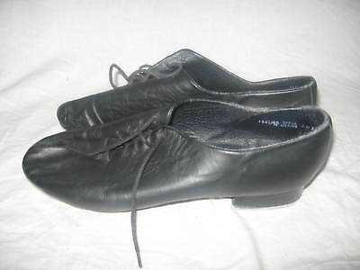 Giordano by Leo's  Leather Jazz Tap Dance Shoes Size 11 W with Ultratone
