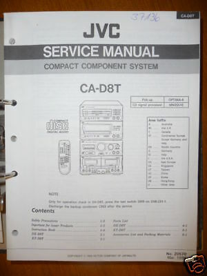 jvc ca c220 compact component system service manual