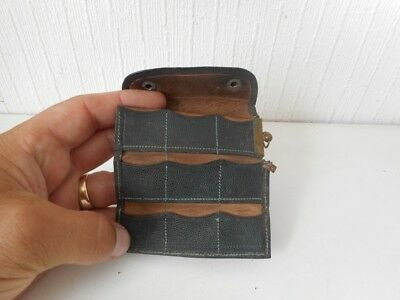 Georgian? Victorian? Antique Leather and Brass Coin Purse