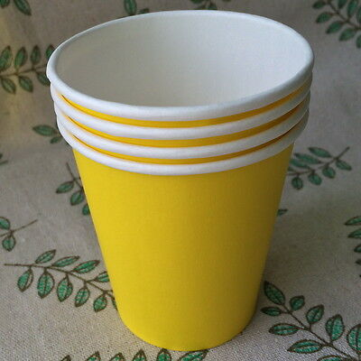 50pcs Disposable 7oz White Coffee Paper Cups For Wedding Birthday Party