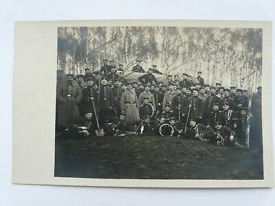 WW1 Group German Soldiers Pioneers with Equipment
