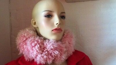 light pink or light peach neck collar or head cover from Netherlands garterised