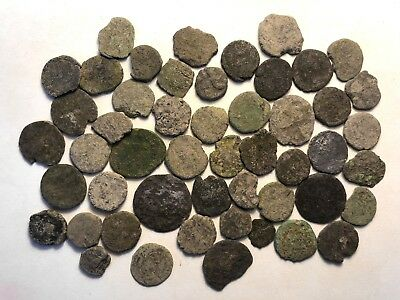 50 x Uncleaned UK Found Roman Imperial Coins & Barbarous Radiates // Lot 6