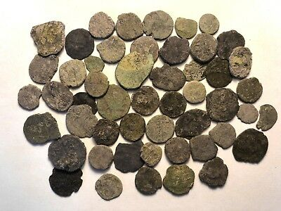 50 x Uncleaned UK Found Roman Imperial Coins & Barbarous Radiates // Lot 9