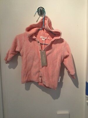 Purebaby Velour Hooded Jacket NWOT