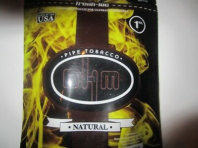 Ohm Natural Yellow  Tobacco Bag 1 Oz Free Shipping Worldwide Only $6.95