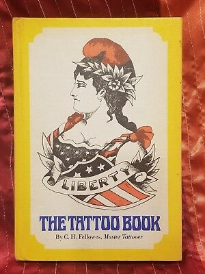 THE TATTOO BOOK - C.H. FELLOWES Pyne Press 1971.  1st edition book tattoo flash