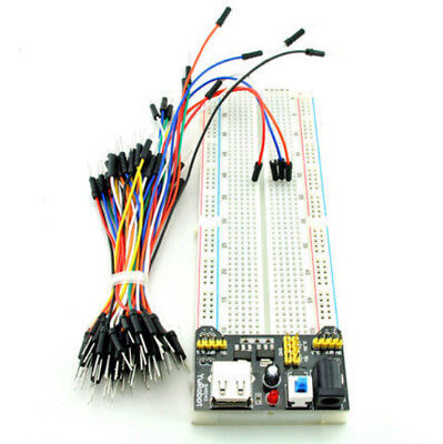 Hot Power Supply Module 830 Point+ Breadboard 3.3V/5V+ MB102 65PCS Jumper Cable