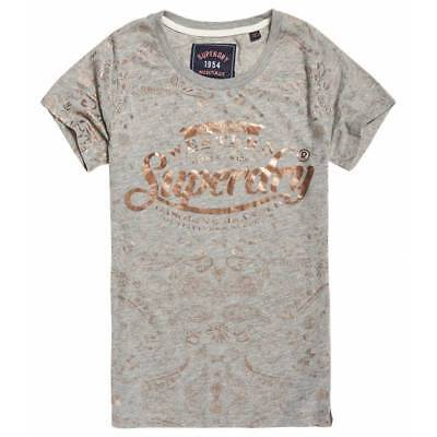 T-shirt Superdry Femme Gasoline Foil AOP Entry Grey Marl