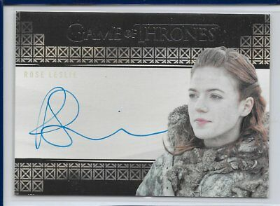 Game of Thrones Valyrian Steel Autograph Card Rose Leslie as  Ygritte