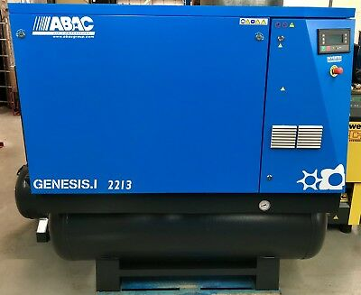 ABAC Genesis 22 Variable Speed Drive Rotary Screw Compressor With Dryer! 22Kw!