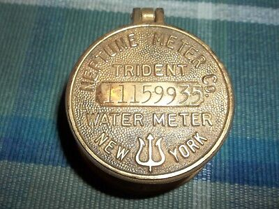 Vintage Brass Trident Neptune Co. Water Meter ~ 11159935 ~ New York