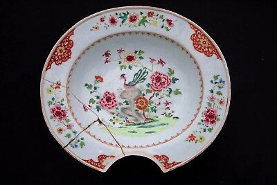 Ancien Plat A Barbe En Porcelaine Chine Compagnie Des Indes Antique Chinese 18Th