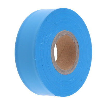 Non Adhesive Flagging Tape Marking Ribbon Trail Marker Bright Colored Blue