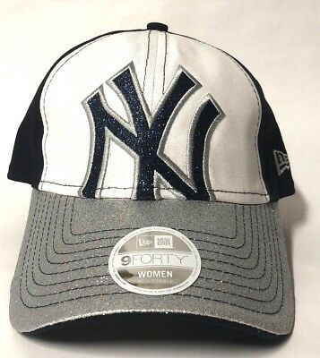 ... coupon for new era new york yankees womens glitter glam navy blue 9  forty adjustable hat 6502138d65fc