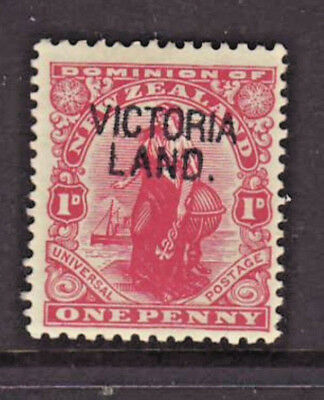 RARE...NEW ZEALAND Penny Red overprinted VICTORIA LAND Mounted Mint
