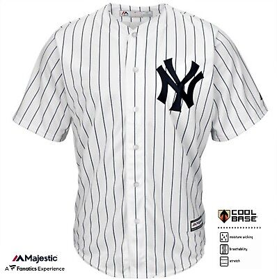 OFFICIAL NY Yankees CoolBase®™ Home Jersey by Majestic Athletic MEDIUM Size BNWT