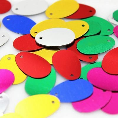 Oval Sequin For Crafts Sewing 19mm One hole 50pcs/lot