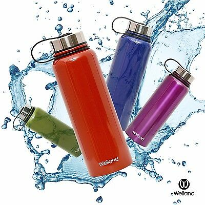 32 oz Water Bottle Vacuum Insulated Stainless Steel Hot or Cold, WELLAND