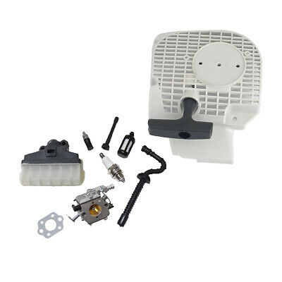 CARB & RECOIL STARTER ASSEMBLY for STIHL MS210 MS230 MS250 CHAINSAW PART