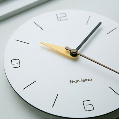 12'' Silent Quartz Wall Clock Battery Operated Wall Clock for Home Office
