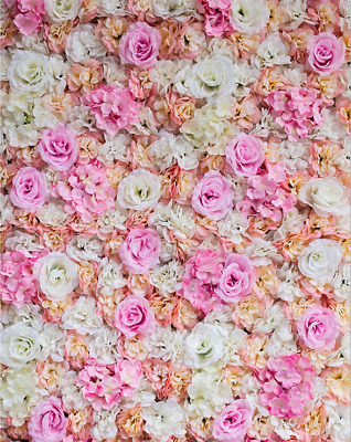 ARTIFICIAL FLOWER ROSEHYDRANGEA WALL PANEL WEDDING BACKGROUND BACKDROP-chpink
